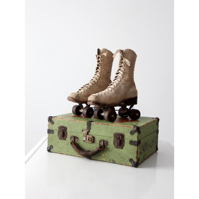 1940s Chicago Roller Skates with Case - Image 2 of 9