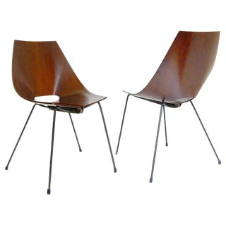 Set of Two Italian Chairs Designed by Carlo Ratti, Circa 1960 For Sale