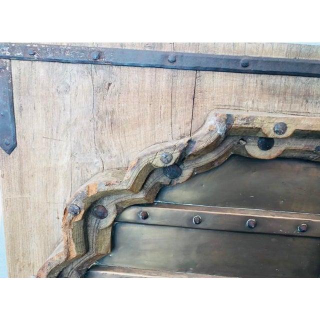 Antique Indian Teak Wood Hand Carved Doors For Sale - Image 11 of 12