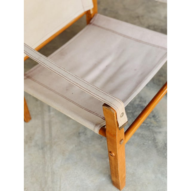 Canvas Safari Chair For Sale - Image 4 of 5