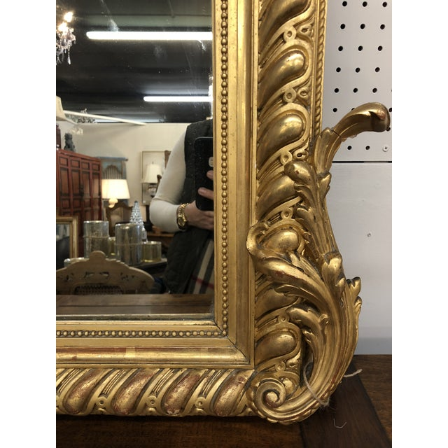 French 19th Century French Napoleon III Gold Leaf Mirror For Sale - Image 3 of 13