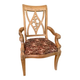 Bernhardt Italian Inspired Athen Dining Arm Chairs For Sale