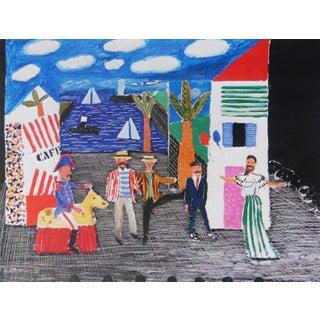 """1980s David Hockney """"Les Mamelles De Tiresias l'Enfant Et Les Sortileges Parade"""" Poster Preview"""