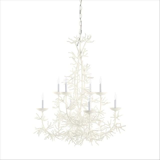Casa Cosima Calypso Chandelier, Cloud White For Sale - Image 4 of 4