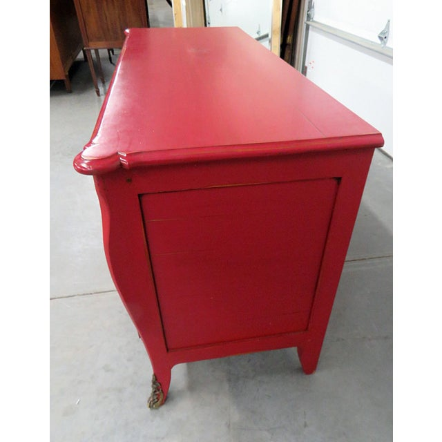 Bronze Roche Bobois Paint Decorated Commode For Sale - Image 7 of 13