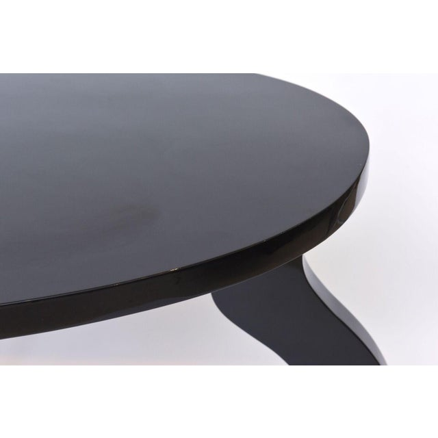 Italian Modern Black Lacquer Center/Dining Table For Sale - Image 9 of 9