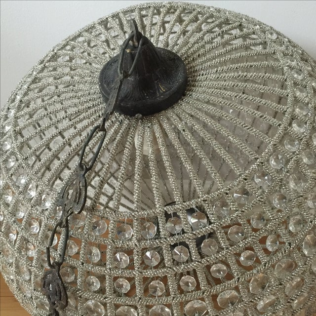 Modern French Pendant Crystal Sphere For Sale In Atlanta - Image 6 of 10