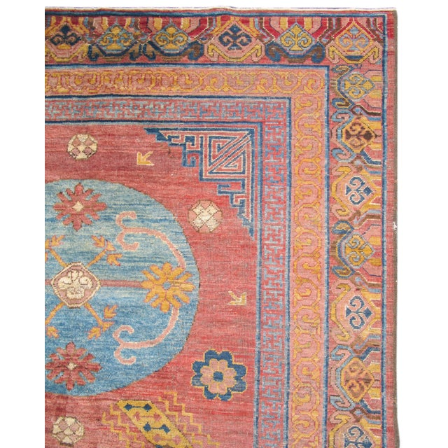 This contemporary carpet is a modern rendering of Khotan design from the 18th century. Khotan carpets are known for their...