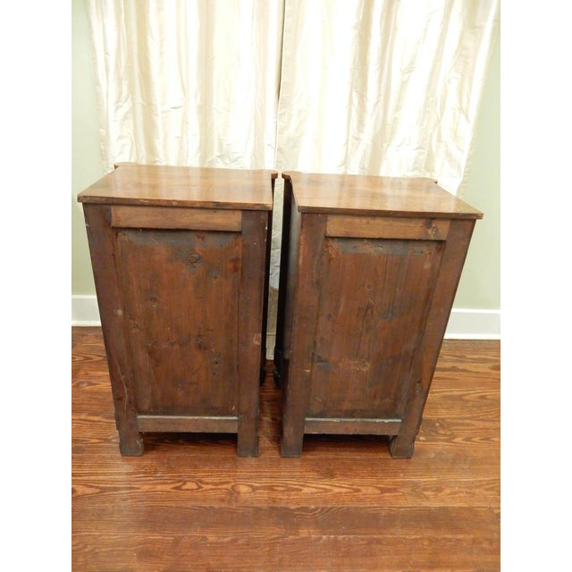 Pair of 19th C Charles X French Walnut Bedside Cabinets For Sale - Image 4 of 11
