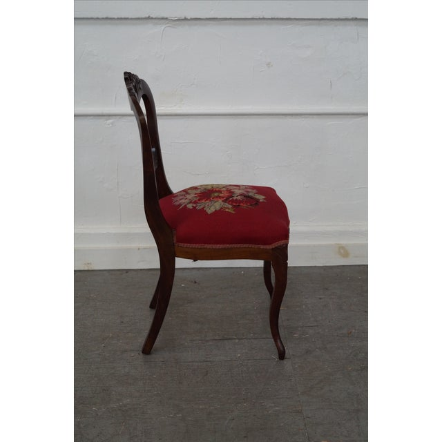 Antique Victorian Walnut Side Chair - Image 5 of 10