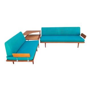 Peter Hvidt Teak Sectional Sofa Set For Sale