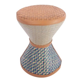 Nude & Purple Base Talking Stool For Sale