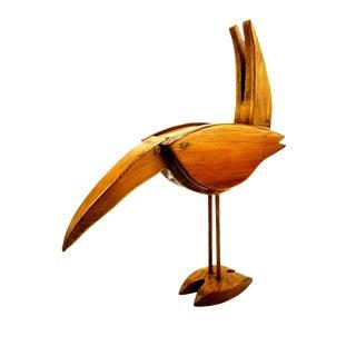 1950s Mid Century Wooden Toucan Bird Cigarette Matchbook Holder For Sale