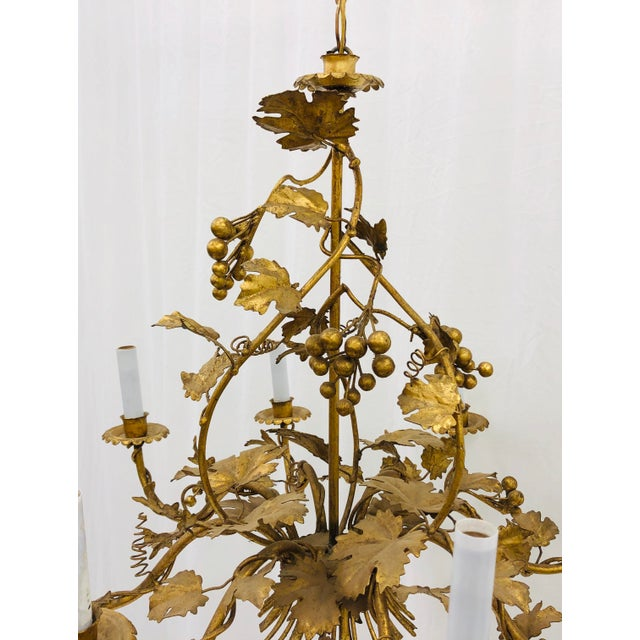 Antique French Gilded Ivy Chandelier For Sale - Image 12 of 13