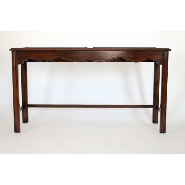 Drexel Heritage Drexel Heritage Console or Sofa Table W/ Benches - 3 Pc. Set For Sale - Image 4 of 11