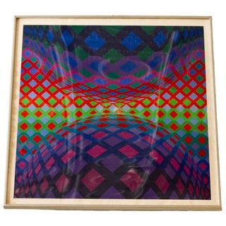 "Victor Vasarely ""Reech"" Op Art Serigraph"
