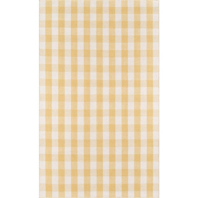 """Madcap Cottage Highland Fling a Scotch Please Gold Area Rug 3'6"""" X 5'6"""" For Sale"""