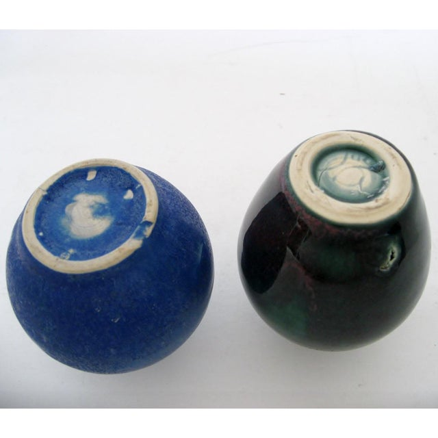 Late 20th Century Petit Ceramic Vases - A Pair For Sale - Image 5 of 5