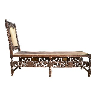 Jacobean Revival Daybed With Angels For Sale