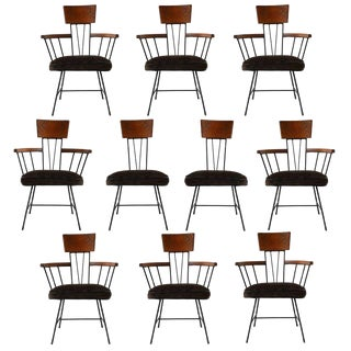 Set of Ten Selrite Dining Chairs For Sale