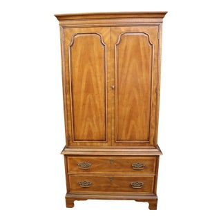 Henredon Chippendale Style Fruitwood Fitted Armoire For Sale