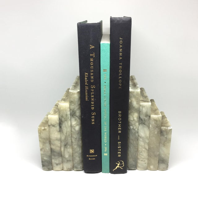 Marble Stacked Books Bookends - A Pair - Image 8 of 8