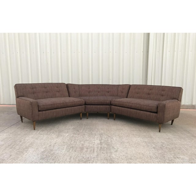 Mid century 3 piece sectional sofa sofa the honoroak for Mid century 3 piece sectional sofa