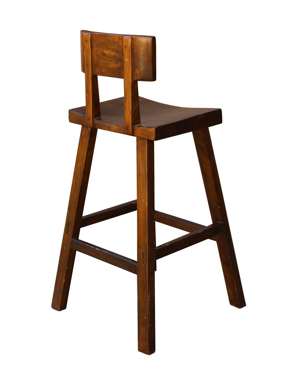 Handmade Solid Wood Brown A Line Bar Stool Chairish