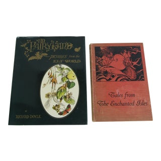 In Fairyland by Richard Doyle & Tales From the Enchanted Isles Books by Ethel May Gate For Sale