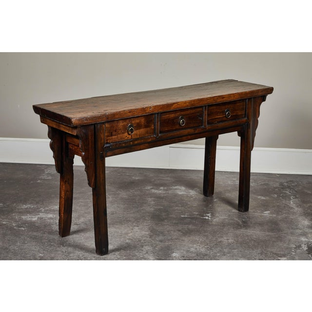 Asian 18th C. Chinese Ming Style Elm Sideboard For Sale - Image 3 of 11