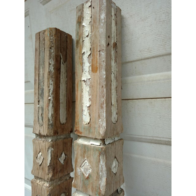 Mid 18th Century Ceylonese Teak Temple Posts - Set of 4 For Sale - Image 5 of 10
