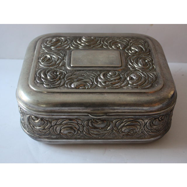 Vintage Silverplate Jewelry Box - Image 2 of 4