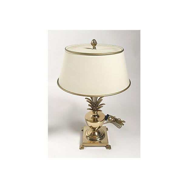 Brass Hollywood Regency Pineapple Lamps - A Pair For Sale - Image 7 of 10