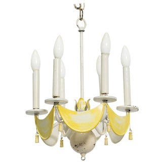Italian Tole Tassel Fixture For Sale