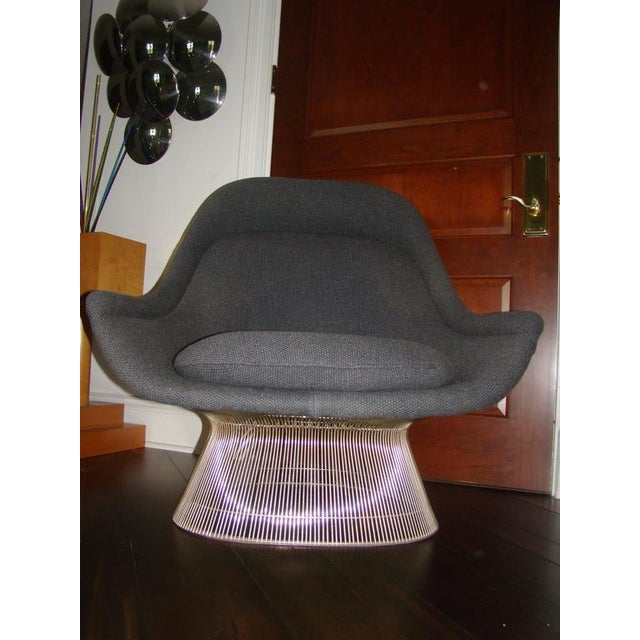 Knoll Warren Platner Throne Chair & Ottoman Lounge For Sale - Image 7 of 10