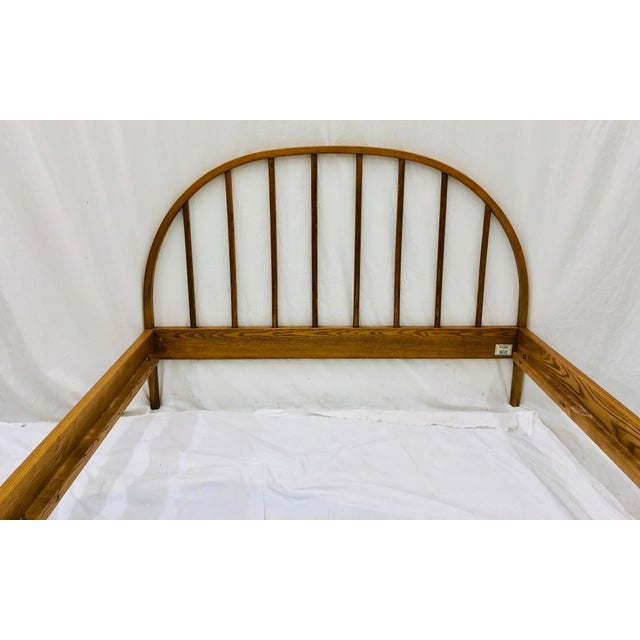 Vintage Mid Century Modern Danish Style Wooden Bed For Sale - Image 9 of 13