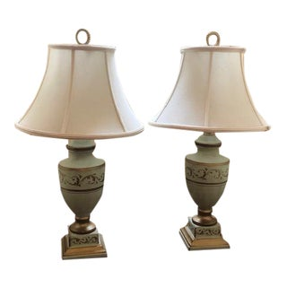 Bradburn Gallery Table Lamps With Shades - a Pair For Sale