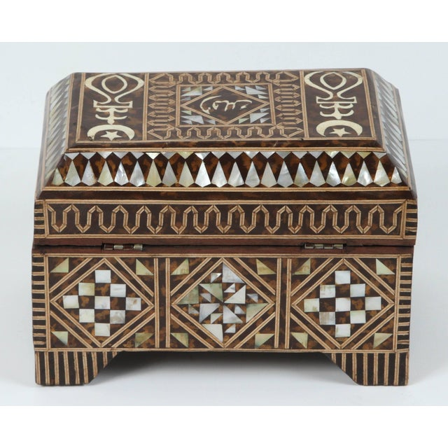 Large Mother-Of-Pearl Inlaid Jewelry Box For Sale In Los Angeles - Image 6 of 7