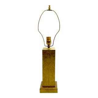 1940s Brass Lamp With Bamboo Plant Motif For Sale