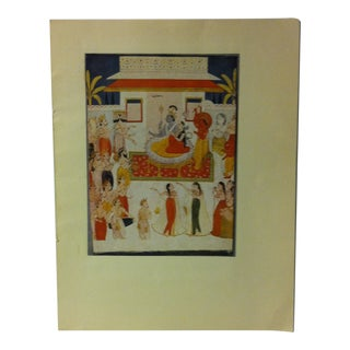 """1948 """"Vaikuntha - the Heaven of Vishnu"""" Mounted Color Print of a Rajput Painting For Sale"""