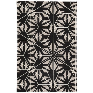 Jaipur Living Haige Indoor/ Outdoor Geometric Black/ Gray Area Rug - 2′ × 3′ For Sale