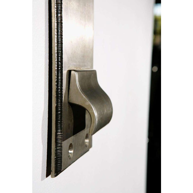 1960s Cast Nickel-Plated Doorplates For Sale - Image 5 of 6