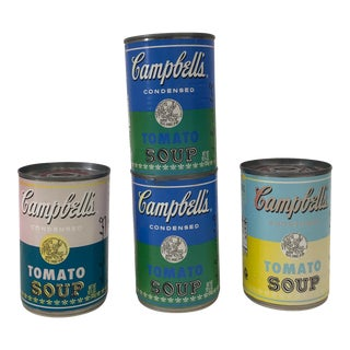 Limited Edition Andy Warhol Tribute 50th Anniversary Campbell's Soup Cans - Set of 4 For Sale