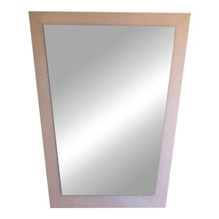 Circa 80's Trapezoidal Mirror In Pale Pink Speckled Frame