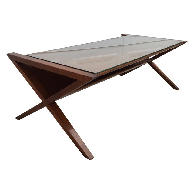 John Van Koert Walnut Coffee Table - Image 1 of 11
