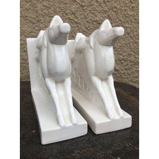 Charles Lemanceau for Saint-Clément France Figural Horse Deco Bookends - a Pair Preview