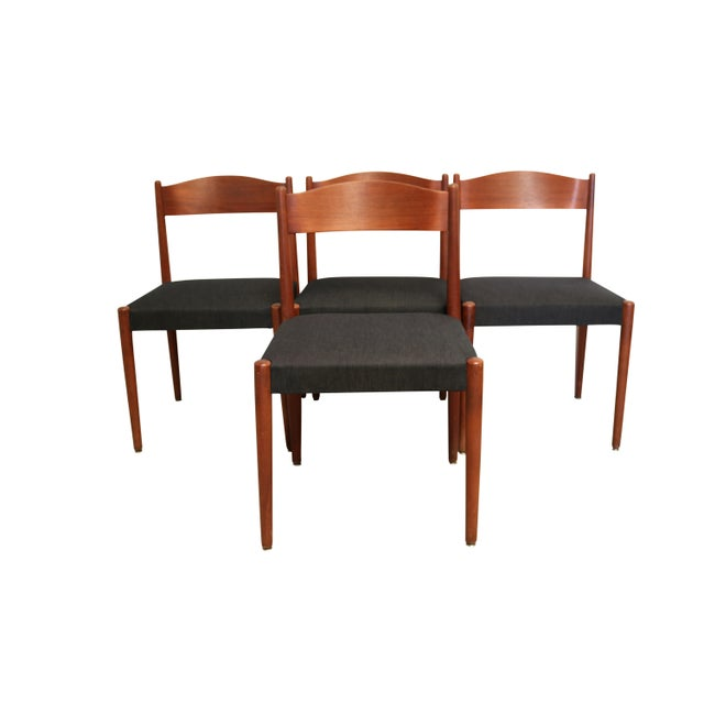Mid-Century Teak Folding Dining Set - Image 2 of 7