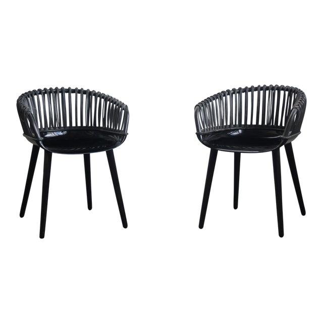 Black magis cyborg chairs a pair chairish for Magis cyborg