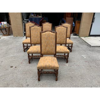 1900s French Louis XIII Style Solid Walnut Dining Chairs - Set of 6 Preview