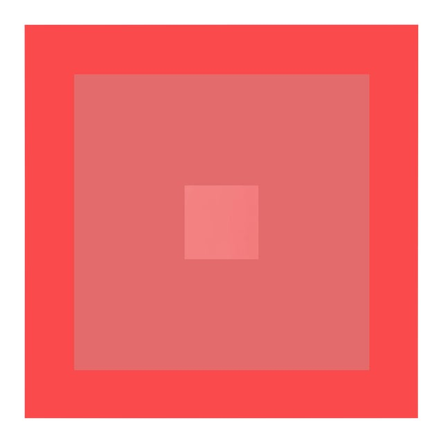 """""""Color Study #18"""" Geometric Unframed Print For Sale"""